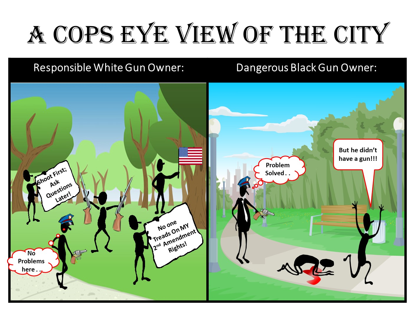 """A Cop's View of the City."""