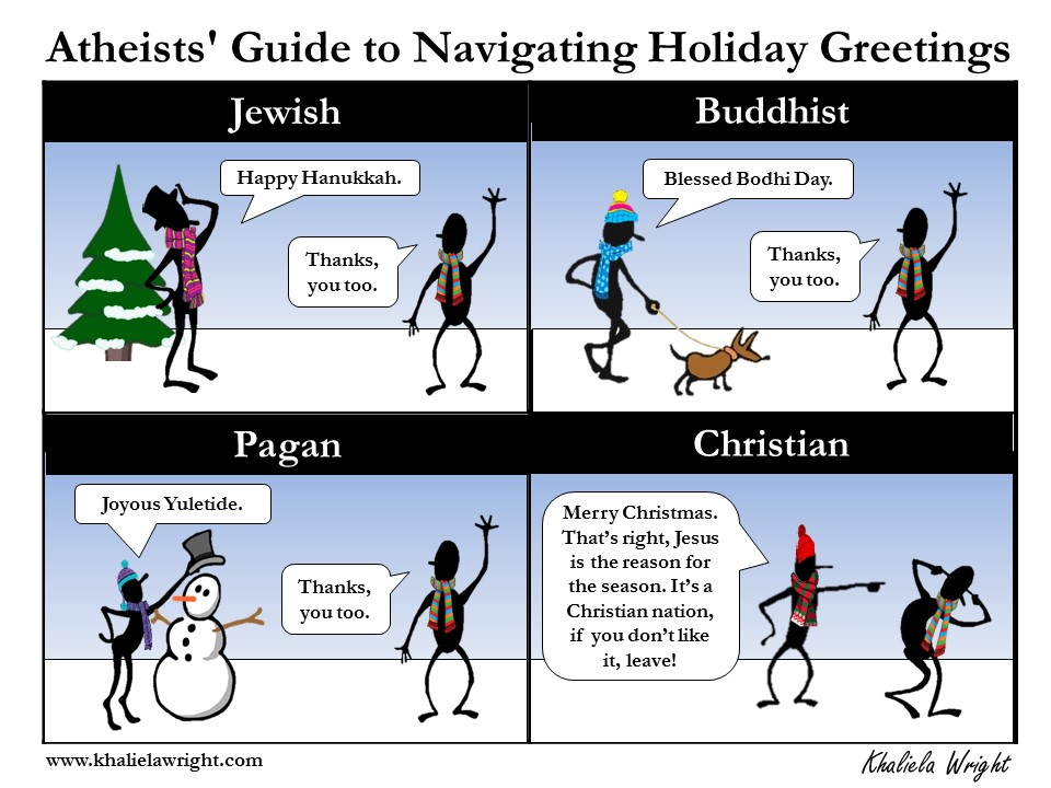 Athiests' Guide to Navigating Holiday Greetings